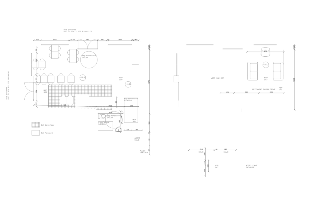 Plan Le Bar Bar